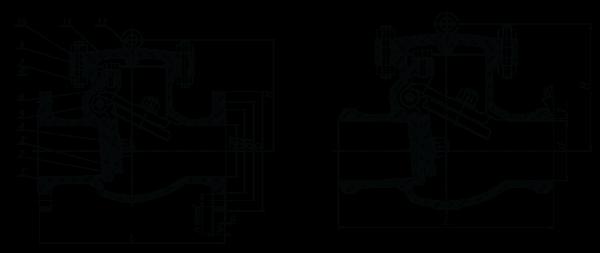 Технические характеристики клапанов обратных поворотных стальных 19лс76нж   Показатели назначения клапанов обратных поворотных стальных 19с53нж