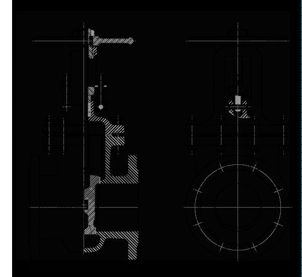 Задвижка стальная клиновая литая 30с41нж