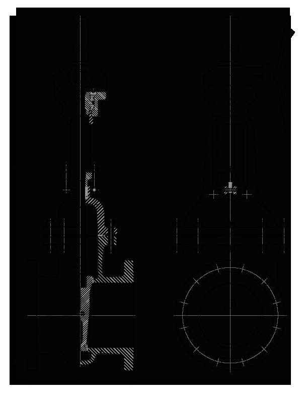Задвижка стальная клиновая литая 30с564нж