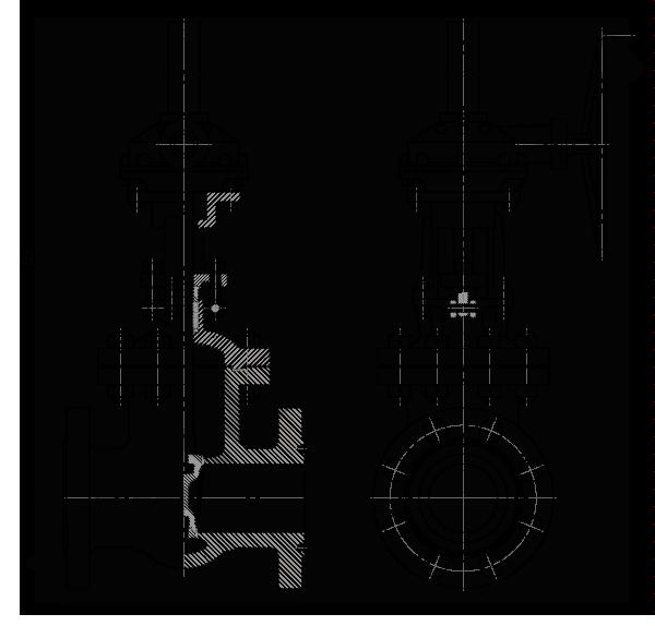 Задвижка стальная клиновая литая 30лс576нж