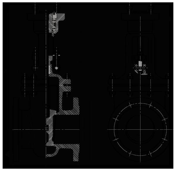 Задвижка стальная клиновая литая под электропривод 30с941нж
